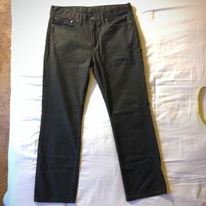 Levi's 514 / 36 x 32 / black soft denim